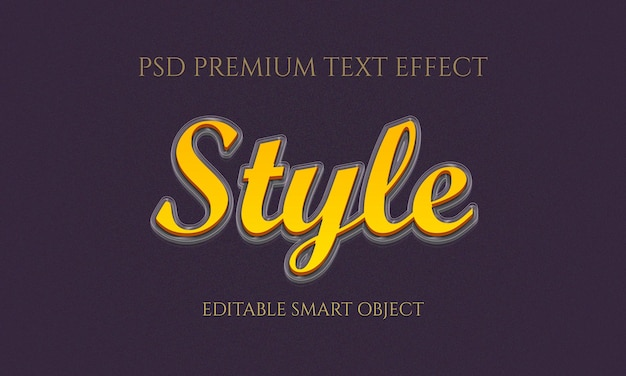 Style text effect design
