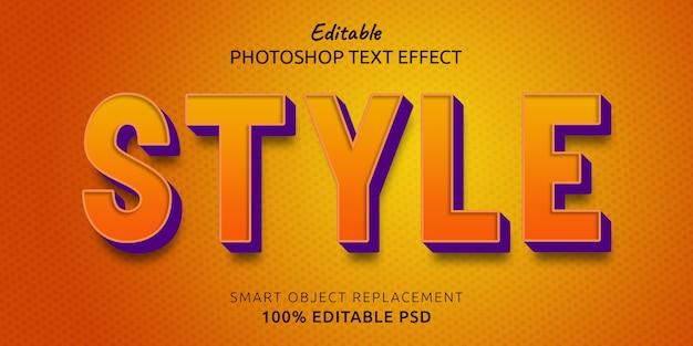 Шаблон эффекта стиля текста