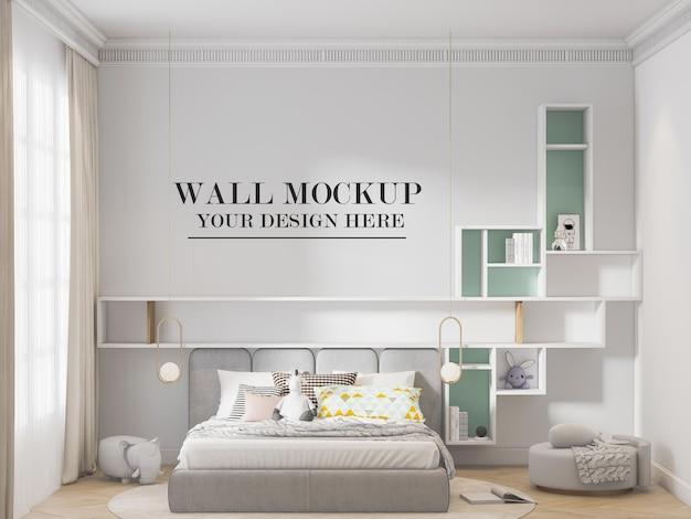 Стильный фон стены спальни