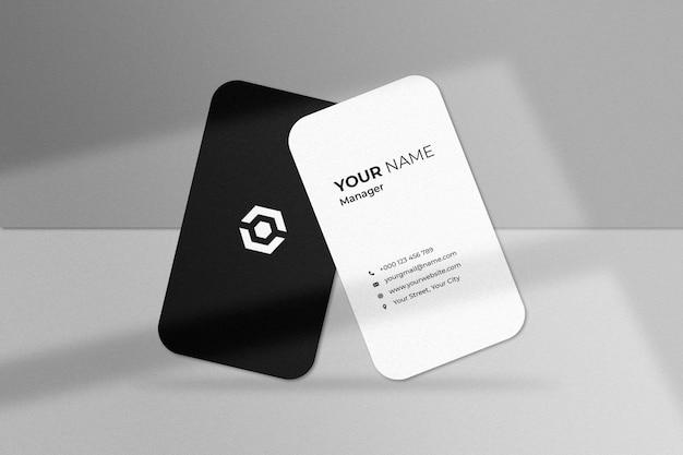 Stylish business card mockup with shadow