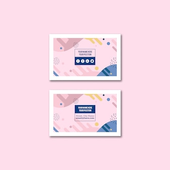 Макет стильной визитки