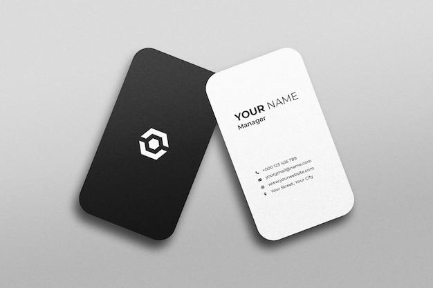 Stylish business card mockup