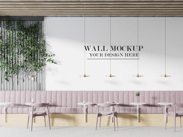 브랜드 이름이나 질감을 위한 세련된 카페 벽 모형
