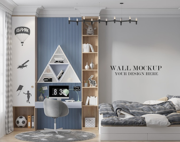 Stylish child room wall template for your textures