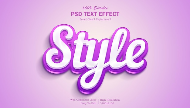 Stylish and colorful psd editable 3d text effect