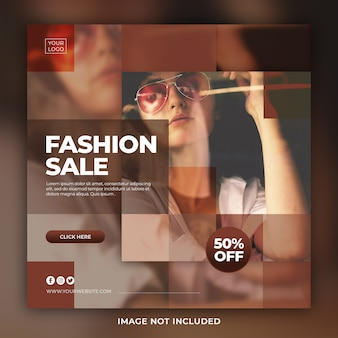 Stylish fashion collection instagram post template