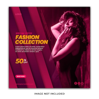 Stylish fashion collection special offer banner psd