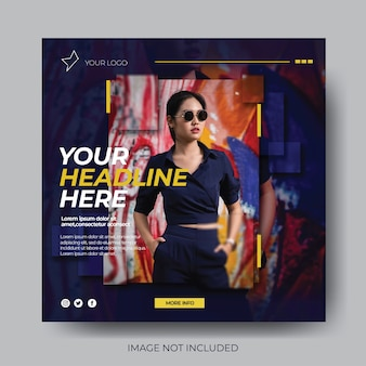 Stylish fashion sale social media post template