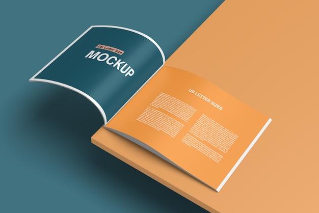 Стильная открытая книга или журнал макет