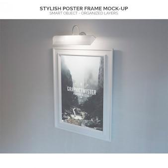 Stylish poster frame mock-up
