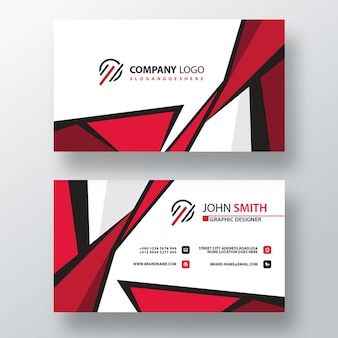 Stylish psd business card