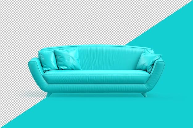 Обрезанный путь стильного дивана бирюзового цвета