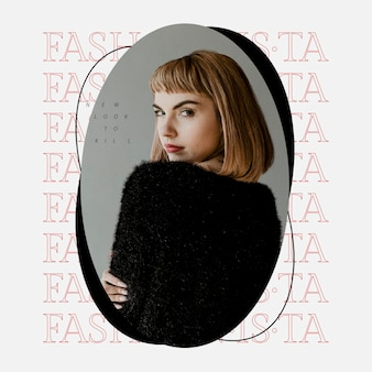 Stylish template psd fashion social media for beauty and lifestyle