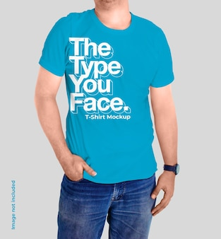 Stylist tshirt mockup Premium Psd