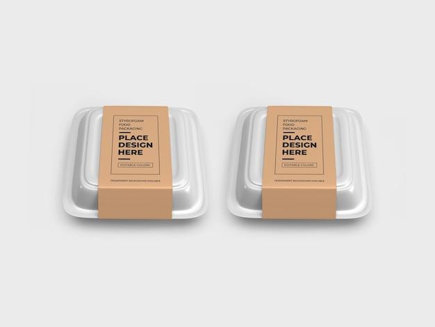 発泡スチロール食品箱包装モックアップ