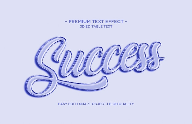 Sucsess 3d text style effect template