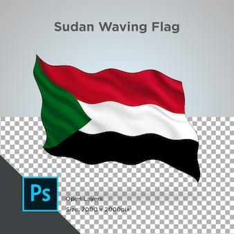Sudan flag wave design transparent