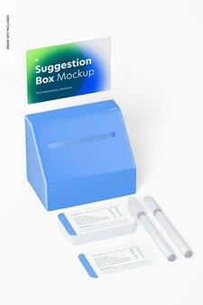 포스터 홀더 모형, 원근감이 있는 제안 상자