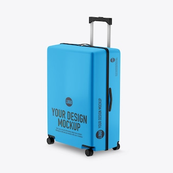 Suitcase mockup isolated