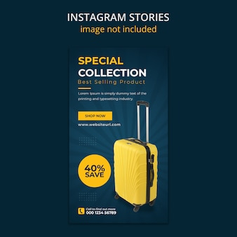 Suitcase sale social media instagram stories