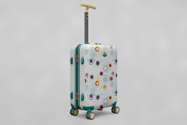Suitcase trolley mock up