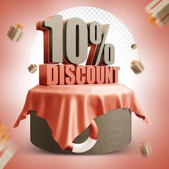 Summer 10 percent discount 3d design