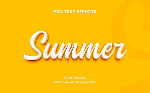 Летний эффект стиля текста 3d