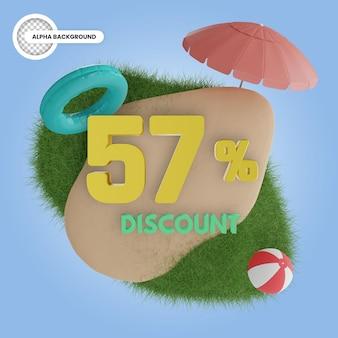Лето 57% скидка изолированные 3d визуализации