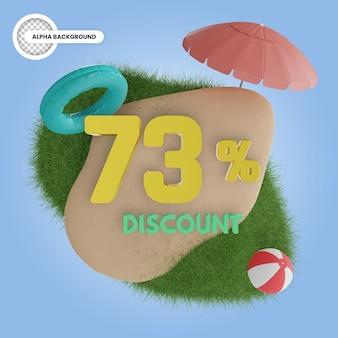 Лето 73% скидка изолированные 3d рендеринга