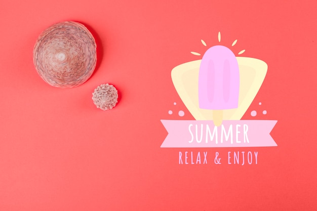Summer background in living coral