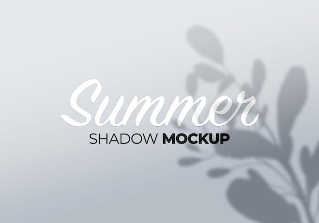 흰 벽에 그림자 모형의 여름 배경