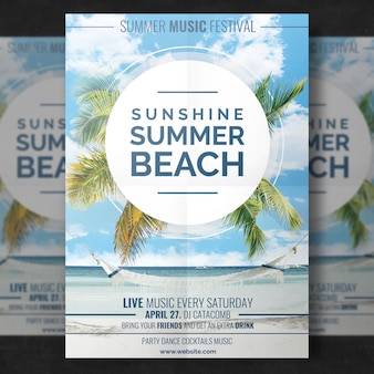 Summer beach template