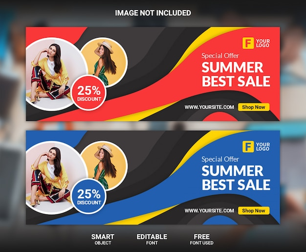 Summer best sale facebook cover template
