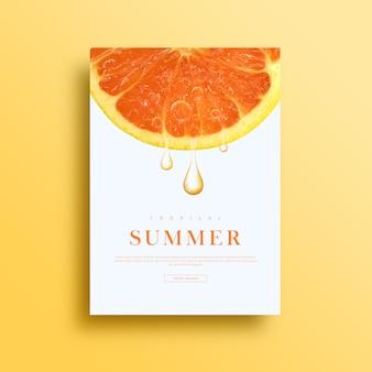 Summer card or banner