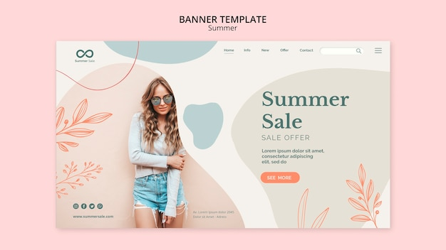 Summer collection banner design