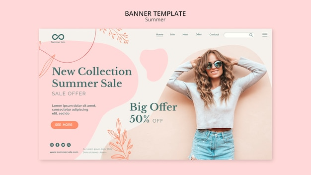 Summer collection banner template