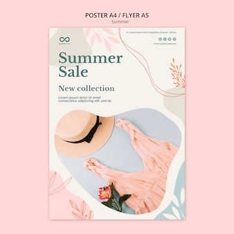 Summer collection sale flyer design