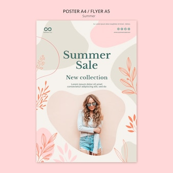 Summer collection sale poster design