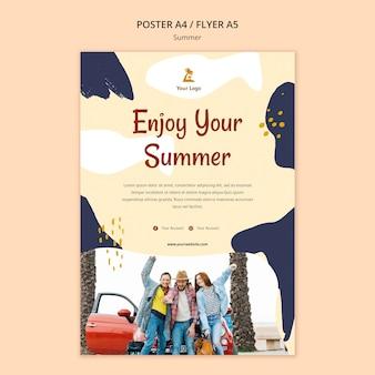 여름 컨셉 포스터 템플릿