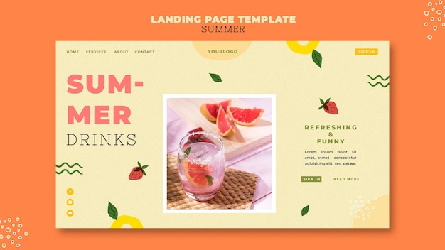 Summer drinks landing page