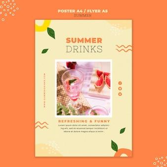 夏の飲み物の印刷テンプレート