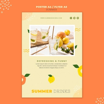 Summer drinks print template
