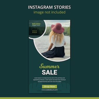 Summer fashion instagram stories