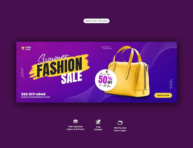 Summer fashion sale facebook cover template