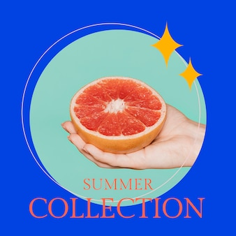 Summer fashion template psd for social media post