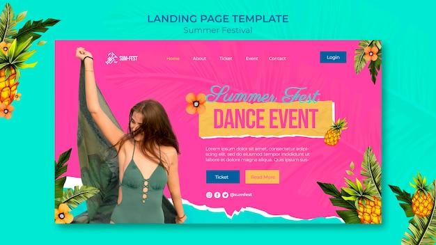 Шаблон целевой страницы летнего фестиваля