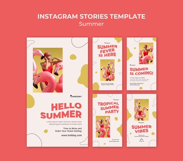 Summer fever instagram stories template