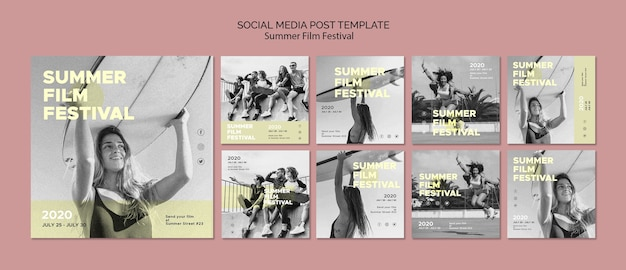 Summer film festival social media template