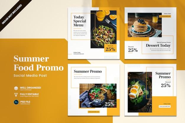 Summer food social media banner template