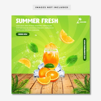 Summer fresh social media instagram template